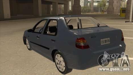 Fiat Siena Ex para GTA San Andreas vista hacia atrás