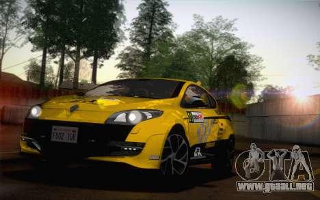Renault Megane RS Tunable para la visión correcta GTA San Andreas