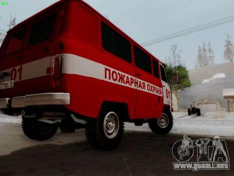 UAZ 452 Fire Staff Penza Russia para la visión correcta GTA San Andreas