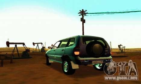 21236 Chevrolet Niva VAZ para GTA San Andreas vista hacia atrás