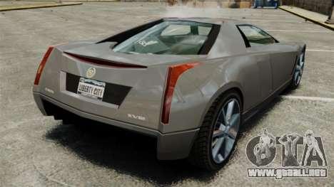 Cadillac Cien XV12 [EPM] para GTA 4 Vista posterior izquierda