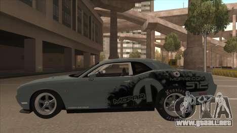 Dodge Challenger Drag Pak para GTA San Andreas vista posterior izquierda