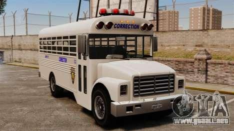 El autobús de la prisión Liberty City para GTA 4
