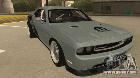 Dodge Challenger Drag Pak para GTA San Andreas left