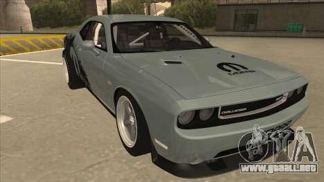 Dodge Challenger Drag Pak para GTA San Andreas left