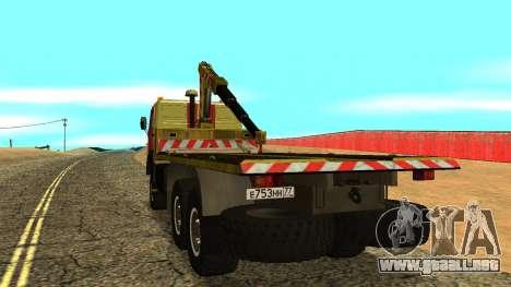 Grúa 43114 KAMAZ para la visión correcta GTA San Andreas