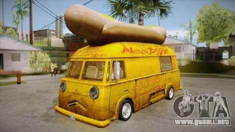 Hot Dog Van Custom para GTA San Andreas