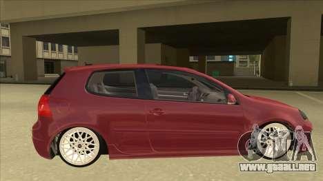 Volkswagen Golf V para GTA San Andreas vista posterior izquierda