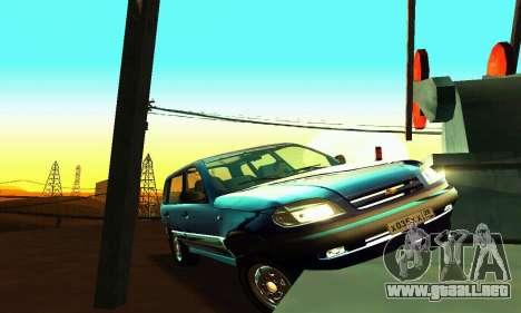 21236 Chevrolet Niva VAZ para vista lateral GTA San Andreas