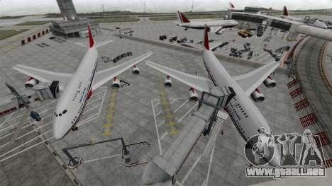 El avión de Turkish Airlines para GTA 4 left