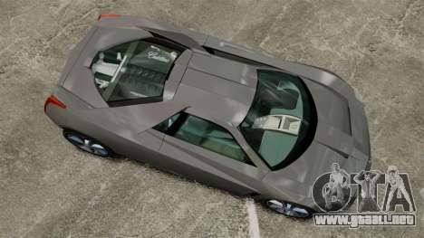 Cadillac Cien XV12 [EPM] para GTA 4 visión correcta