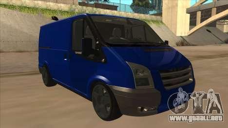 Ford Transit Swb 2011 Stance para GTA San Andreas left