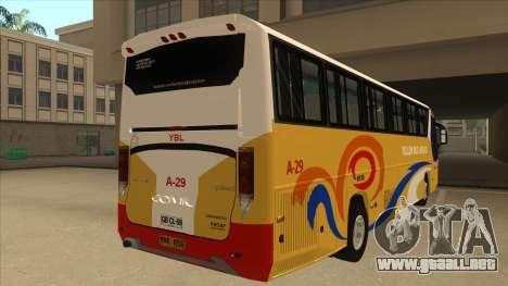 Yellow Bus Line A-29 para GTA San Andreas vista hacia atrás