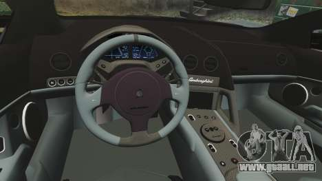 Lamborghini Reventon Roadster 2009 para GTA 4 vista lateral