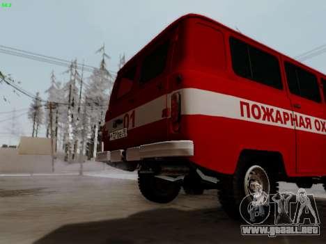 UAZ 452 Fire Staff Penza Russia para GTA San Andreas vista hacia atrás