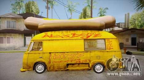 Hot Dog Van Custom para GTA San Andreas left