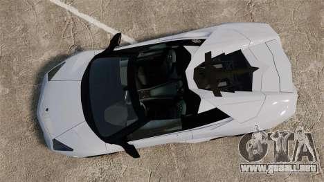 Lamborghini Reventon Roadster 2009 para GTA 4 visión correcta