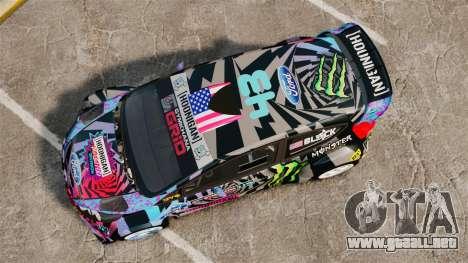 Ford Fiesta Gymkhana 6 Ken Block [Hoonigan] 2013 para GTA 4 visión correcta