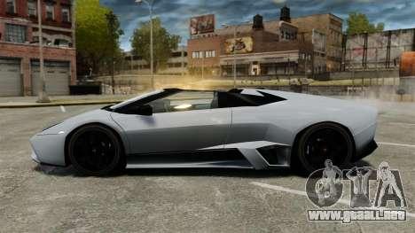 Lamborghini Reventon Roadster 2009 para GTA 4 left