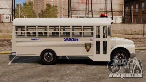 El autobús de la prisión Liberty City para GTA 4 left
