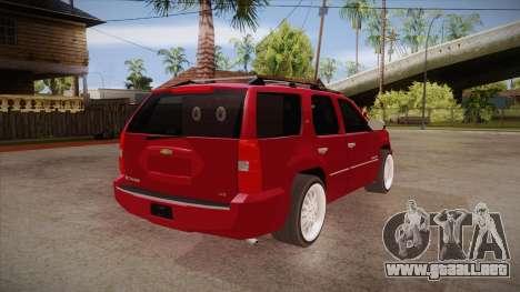Chevrolet Tahoe LTZ 2013 Custom para la visión correcta GTA San Andreas