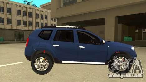 Dacia Duster 2014 para GTA San Andreas vista posterior izquierda