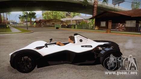 BAC Mono 2011 para GTA San Andreas left
