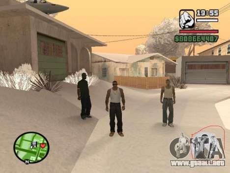 Conmutación entre personajes como GTA V para GTA San Andreas sucesivamente de pantalla
