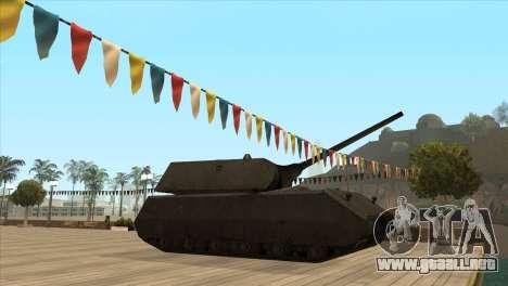 Panzerkampfwagen VIII Maus para GTA San Andreas segunda pantalla