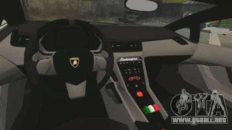 Lamborghini Veneno para GTA 4 vista interior