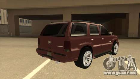 Cadillac Escalade 2002 para la visión correcta GTA San Andreas