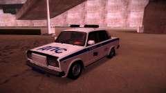 VAZ 2107 policía DPS para GTA San Andreas
