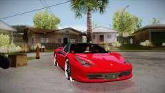Ferrari 458 Italia Novitec Rosso 2012 v2.0 para GTA San Andreas