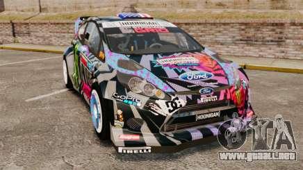 Ford Fiesta Gymkhana 6 Ken Block [Hoonigan] 2013 para GTA 4