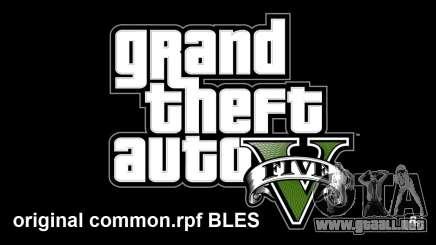 Common.rpf original BLES para GTA 5