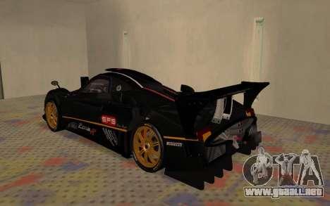 Pagani Zonda R SPS para la visión correcta GTA San Andreas