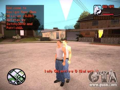 Nuevo menú y una nueva fuente para GTA San Andreas octavo de pantalla