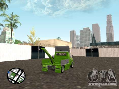 Gacela grúa para GTA San Andreas vista posterior izquierda