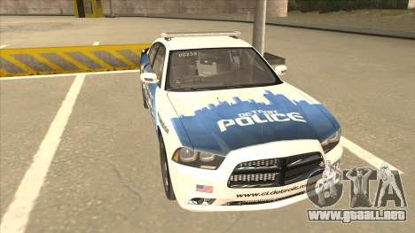 Dodge Charger Detroit Police 2013 para GTA San Andreas left