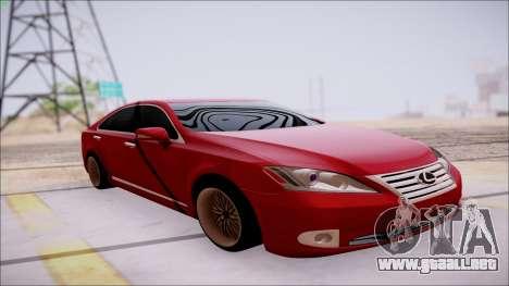 Lexus ES350 2010 para visión interna GTA San Andreas