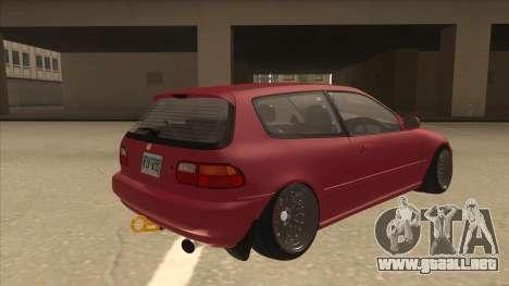 Honda Civic EG6 Camber para la visión correcta GTA San Andreas