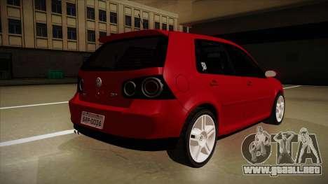 VW Golf GTI 2008 para la visión correcta GTA San Andreas
