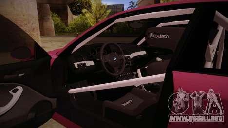BMW M3 E46 Stance para visión interna GTA San Andreas