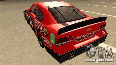 Chevrolet SS NASCAR No. 36 Accell para GTA San Andreas vista hacia atrás