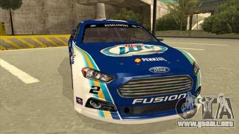 Ford Fusion NASCAR No. 2 Miller Lite para GTA San Andreas left