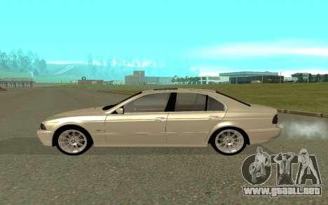 BMW 540i para GTA San Andreas left