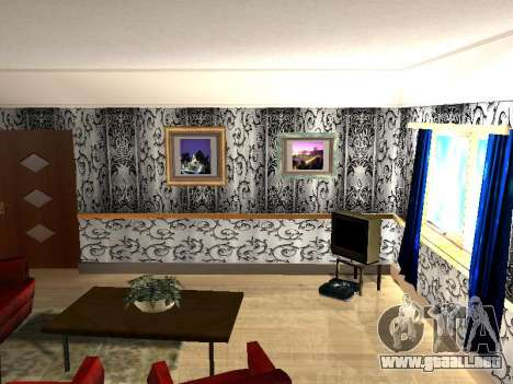 Nuevo edificio de 2 pisos interior CJ para GTA San Andreas tercera pantalla