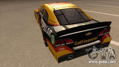 Chevrolet SS NASCAR No. 31 Caterpillar para GTA San Andreas vista hacia atrás