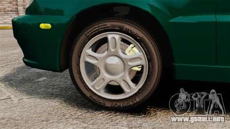 Daewoo Lanos 1997 Cabriolet Concept v2 para GTA 4 vista hacia atrás