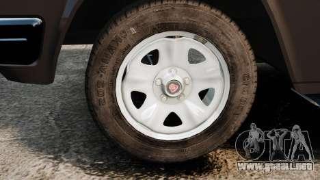 GAZ-3110 Pickup para GTA 4 vista hacia atrás